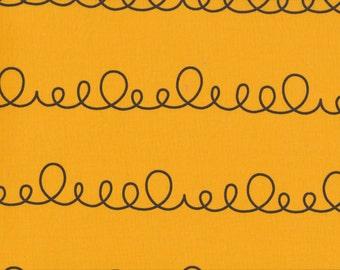 Daiwabo Junko Matsuda fat quarter -- Modern & Bright Collection--Loopy in Gold