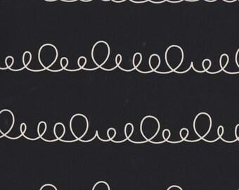 Daiwabo Junko Matsuda fat quarter -- Modern & Bright Collection--Loopy in Black