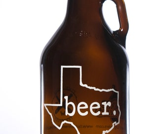 32 oz. Texas Beer Growler