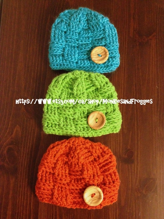 How To Make A Basket Weave Hat : Basket weave hat crochet with button by