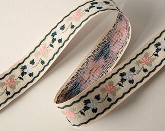 Polyester Sewing Ribbon - 28mm Ribbon Floral Pattern