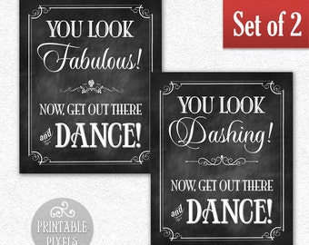 Items Similar To Set Of Ladies And Gentlemen Restroom Signs 8x10 Wedding Sign Reception Sign