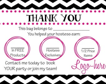 Thirty-One Consultant Bag Tag- BUSINESS CARD- many patterns available!!