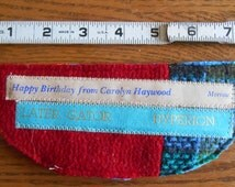 Little Book Gift: Recycled Wool Glasses Case, Book Spine Decoration, OOAK, Librarian Must Have! Hipster Book Gift, Reading Glasses Case