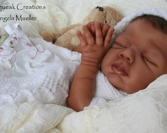 Reborn Vinyl Doll KIT Baby Biracial BAYLEE Lorna Sands 2203 NOT Finished Doll