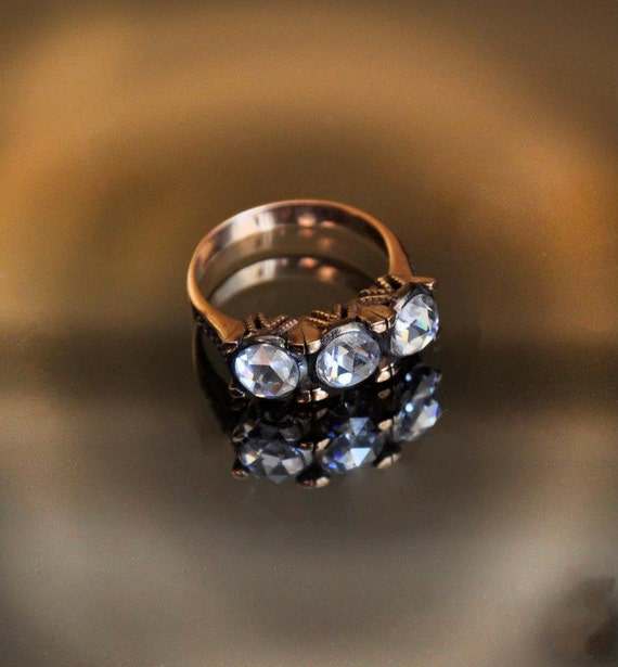 moissanite ring antique ring engagement ring by