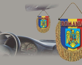 Romania rear view mirror world flag car banner pennant