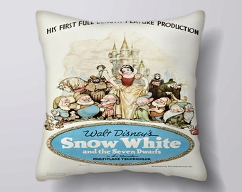 Snow White Movie Poster - Cushion Fabric Panel Or Case or with Filling