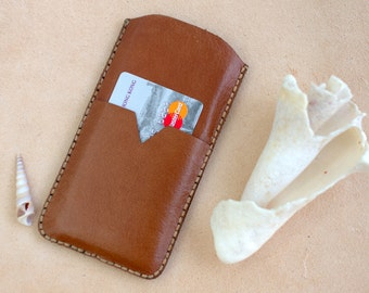 Sale! Nexus 6P Case Leather Card Holder, Handmade Leather Google Nexus 6P Wallet, Huawei Nexus 6P Pouch Light Brown, Nexus 6P Leather Case