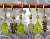 A Parliament of Owls Crochet Stitch Markers