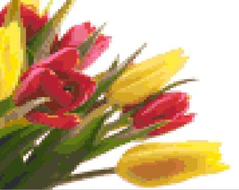 Tulips Cross Stitch Pattern *Pattern Only*