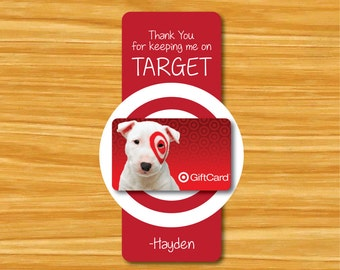 Thanks for Keeping Me on Target Tag- Teacher Gift Tag- Teacher Appreciation Tag- Teacher Gift Card