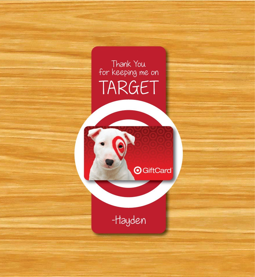 Thanks for Keeping Me on Target Tag Teacher Gift Tag Teacher