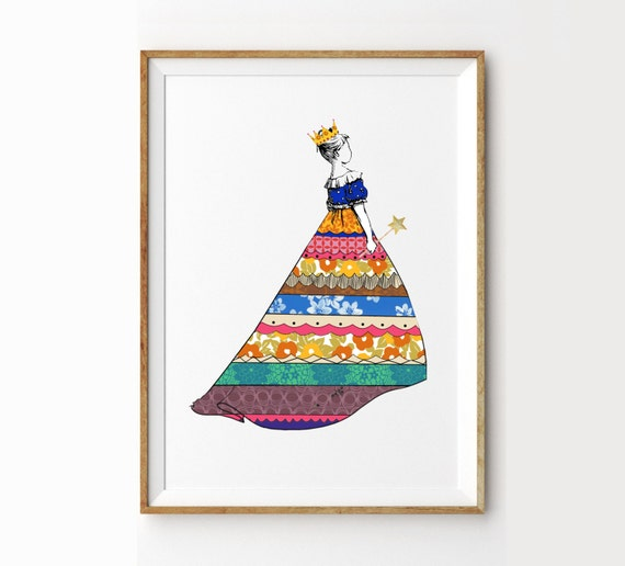 "Princess Art Print 8"" x 10"""