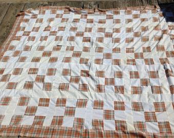 Vintage quilt top  full size