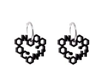 Laser Cut Love Chemistry Earrings