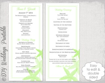 Civil Ceremony Wedding Program