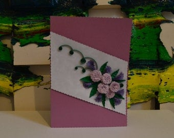 Quilling Hand Made Card 0100