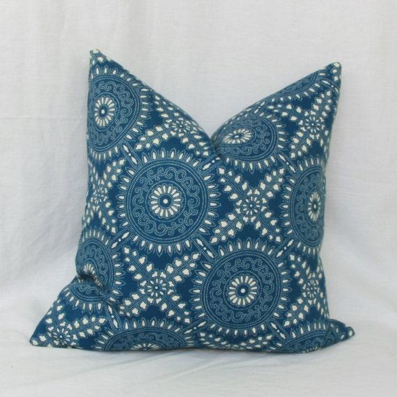Decorative Denim Pillows : Items similar to Denim blue indoor/outdoor decorative throw pillow cover. 18