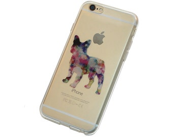 French Bulldog iPhone Case, Your choice of Soft Plastic (TPU) or Wood