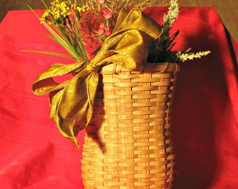 Woven Wall Basket for Wedding Gift, Decorative Carrier for Dried Flowers, Corset Shaped Handmade Basket, Gift for Her, Gift for Bride