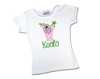 Girl's Koala Shirt with Embroidered Name