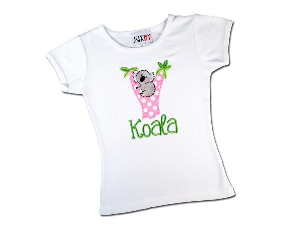 Girl s koala shirt with embroidered name