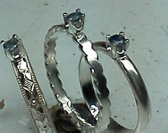 Sapphier stack rings