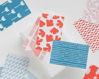 gift tags blue / red, 10 cards