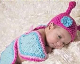 Newborn photo prop crochet, Butterfly, Newborn Photo Prop, Baby Crochet Hat and Wings
