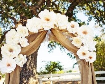 "Burlap Curtain Panels - 68"" x 7m (23ft) - Burlap wedding Drapes - Burlap wedding Decoration - Wedding - Rustic Wedding Decor - Set of 2"