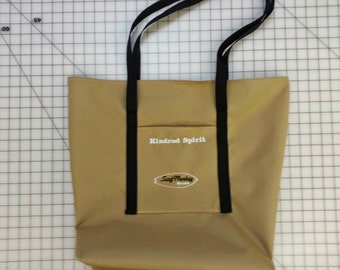 Embroidered beach tote bag - tote - market bag - resuseable bag - tote bag - school bag - book bag