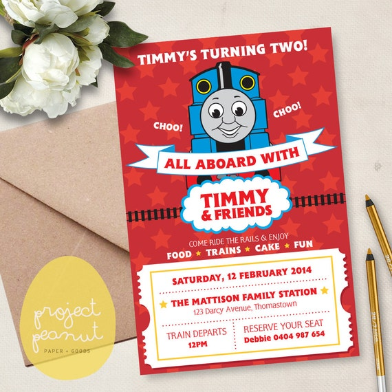 personalised thomas the train kids printable by projectpeanut