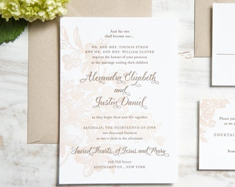 The Alexandra Suite | Letterpress Wedding Invitation SAMPLE