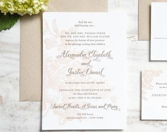 The Alexandra Suite | Letterpress Wedding Invitation SAMPLE