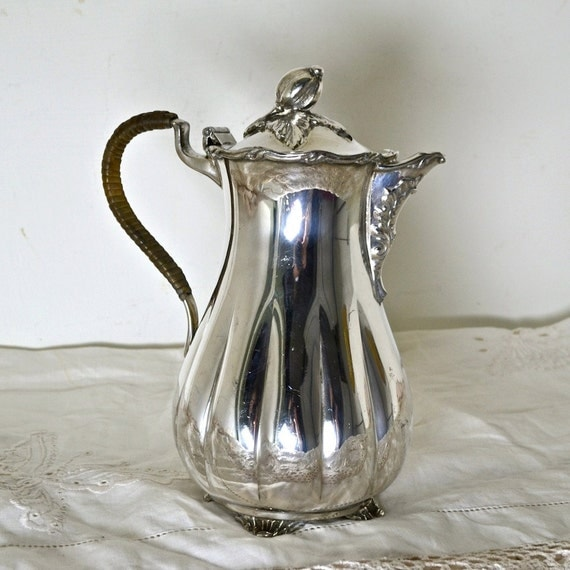 Wm A Rogers Silver Plate Marks: Wm Rogers Silverplate Coffee Pot Or Teapot By FeltersCottage