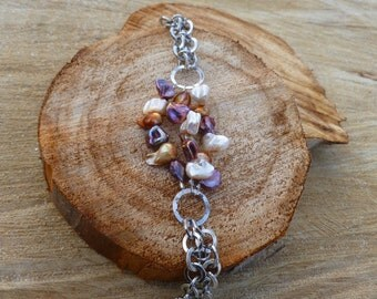Pearls and Chains Bracelet