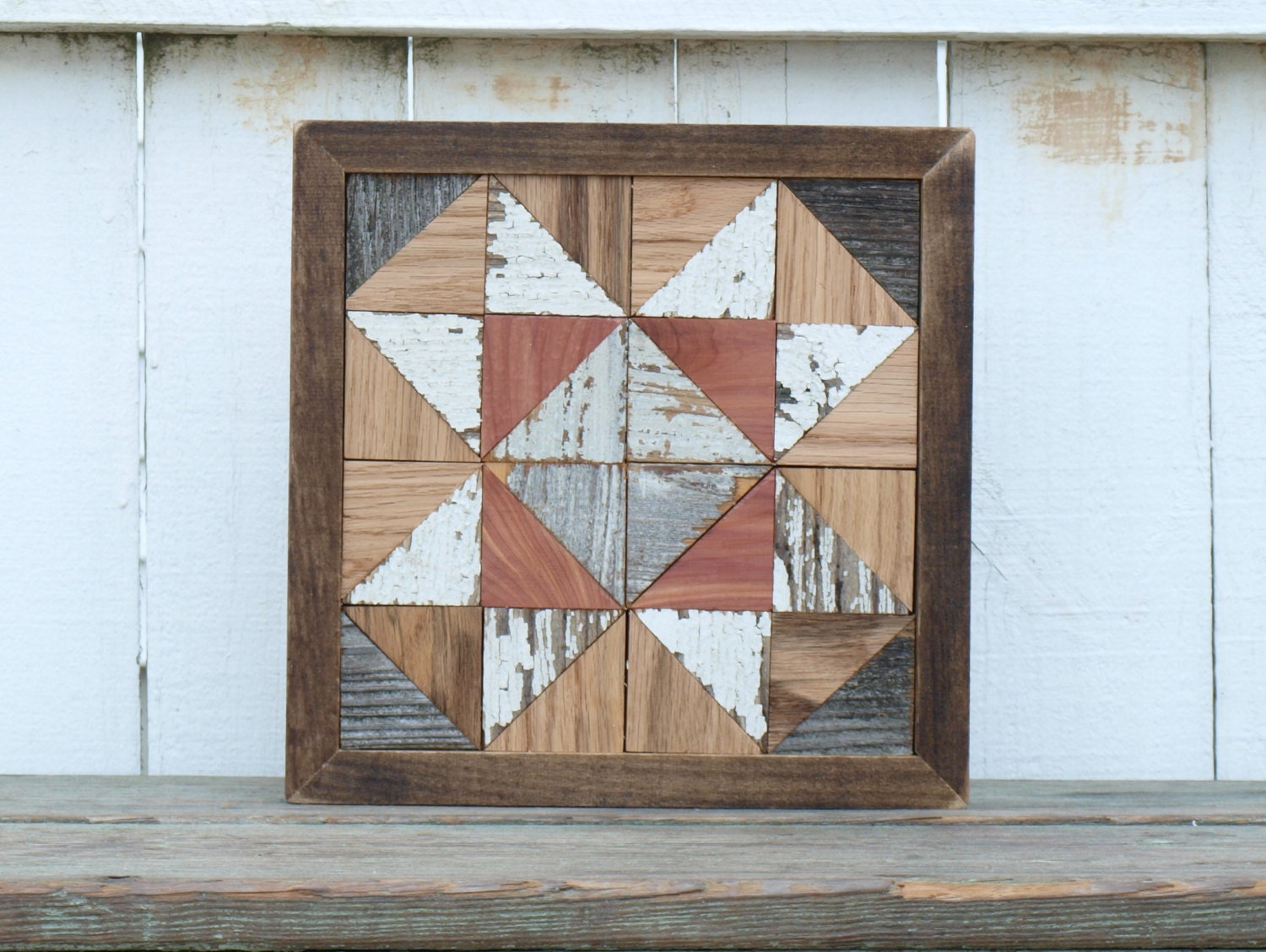 wooden quilt block reclaimed barn quilt by IlluminativeHarvest