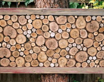 log rounds wall hanging