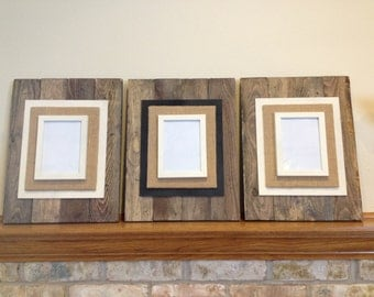 reclaimed wood picture frame pallet wood picture frame rustic picture frame