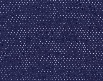 Hearts Blue - Wee Gallery - Dear Stella (STELLA-WG301-BLUE)