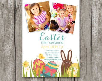 Easter Mini Session Template - Easter Marketing Board - Easter Template for Photographers - Easter Card - Easter Photoshop Template - MS24