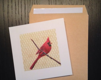 "Bird Note cards 4""x4"""