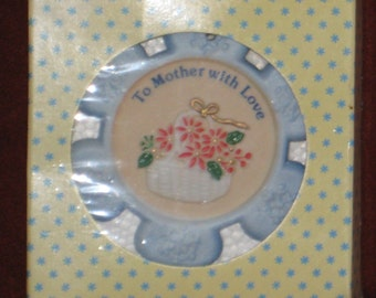 Vintage RUSS To Mother With Love Russ Christmas Ornament Snowflake Shape
