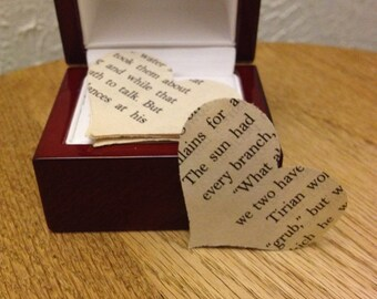 100 Vintage Book Paper Hearts-confetti - table scatter - weddings - book parties