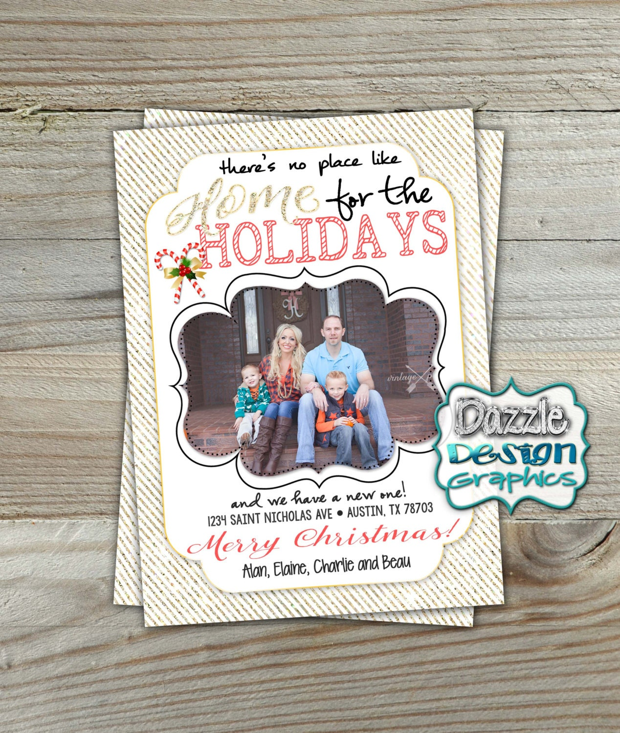 Holiday Photo Card: There's No Place Like Home For The