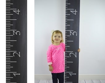 Photography Prop - PRINTED CHALKBOARD RULER Growth Chart photography prop - Giant ruler prop - Life size ruler photo prop - 8 inch x 59inch.