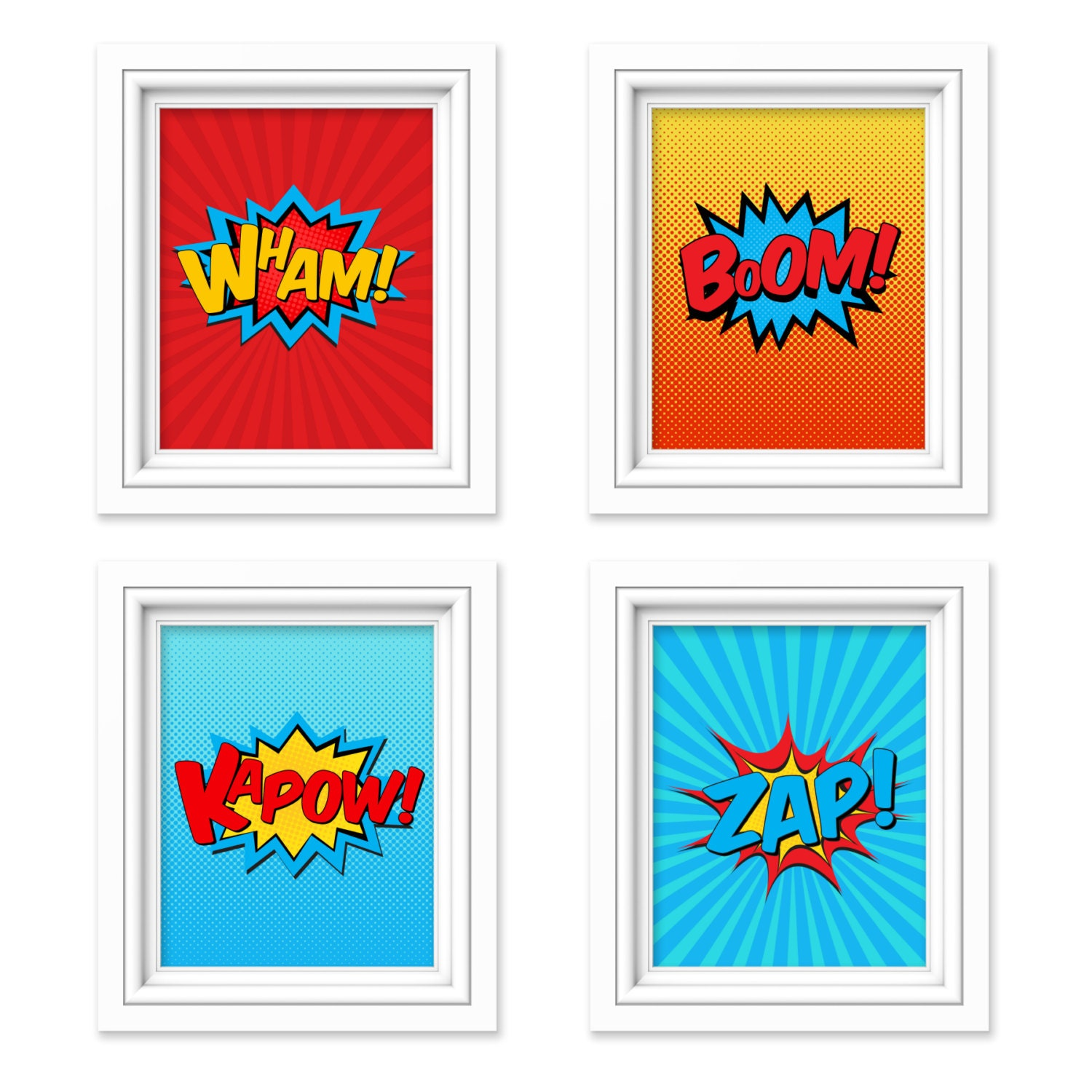 superhero wall art superhero decor boys room wall art. Black Bedroom Furniture Sets. Home Design Ideas