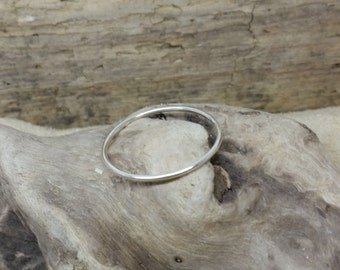 Handmade Sterling Silver Skinny Stacking Ring