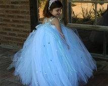 Snow Queen inspired Elsa tutu dress costume-Elsa tutu dress- Special Occasion